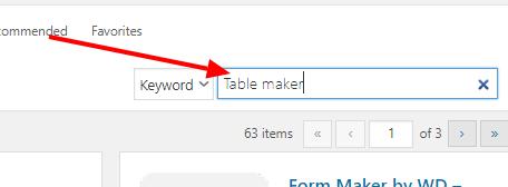 table maker plugin