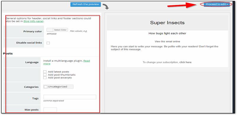 configure some settings