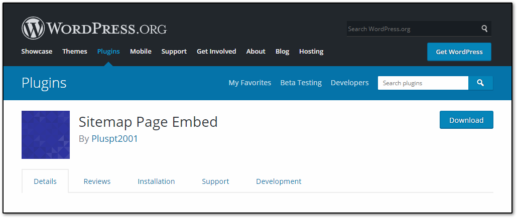 Sitemap Page Embed