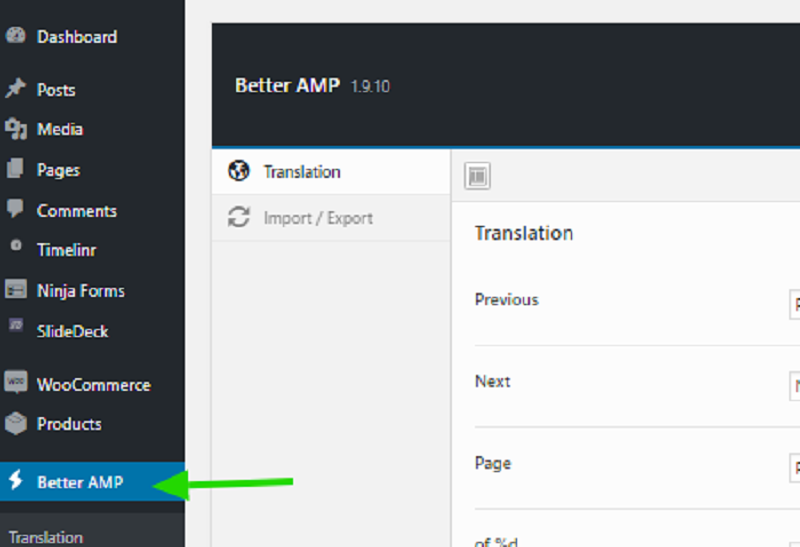 Better AMP Plugin Setup