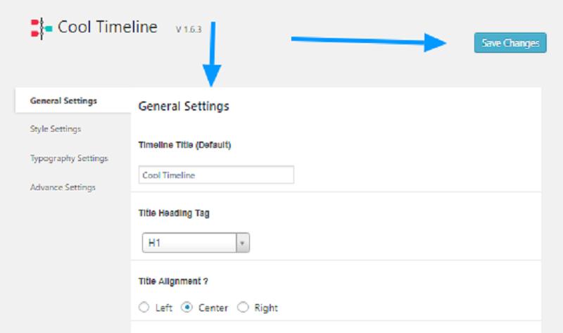 Cool Timeline Pro Plugin Configuration