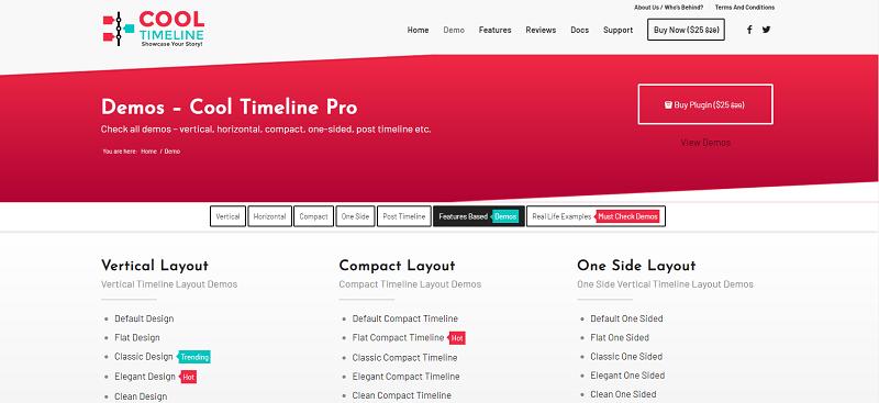 Cool Timeline Pro Plugin