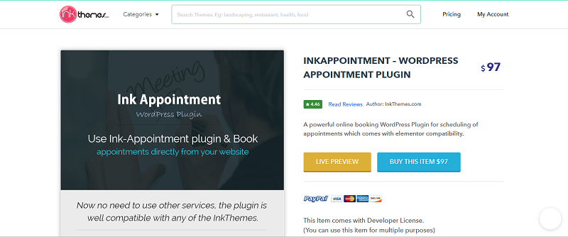 Ink Appointment Plugin