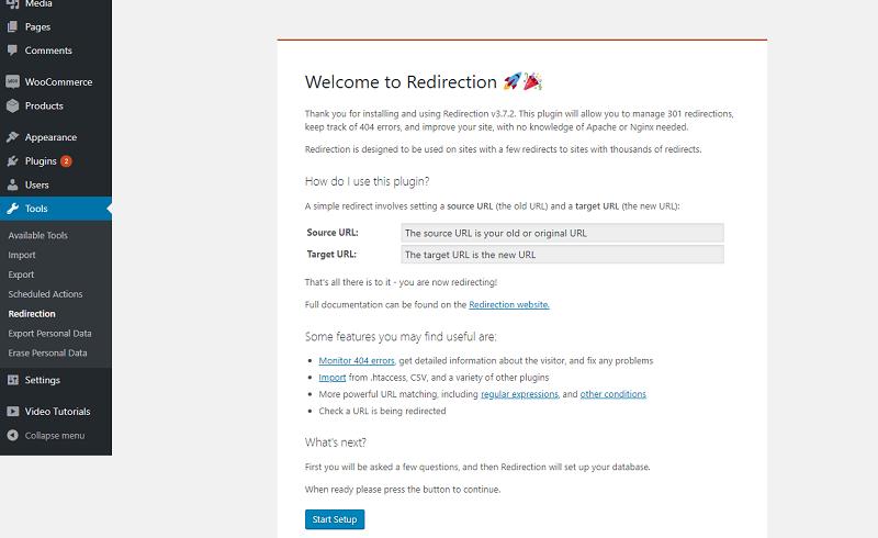 Redirection Plugin Settings