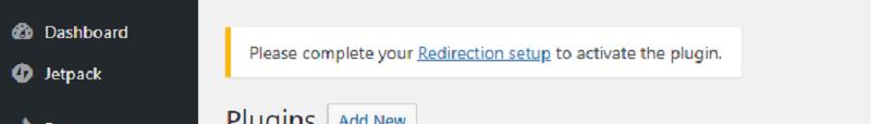 Redirection Setup