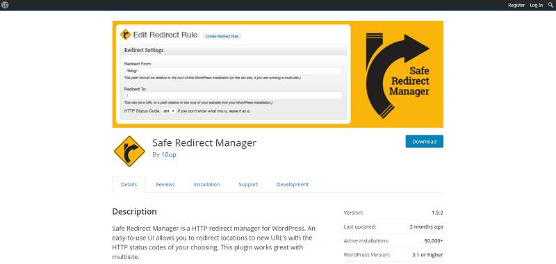 Safe Redirect Manager Plugin