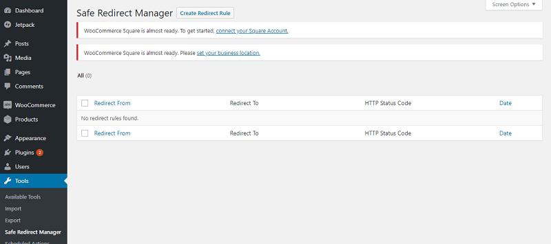 Safe Redirect Manager Setup