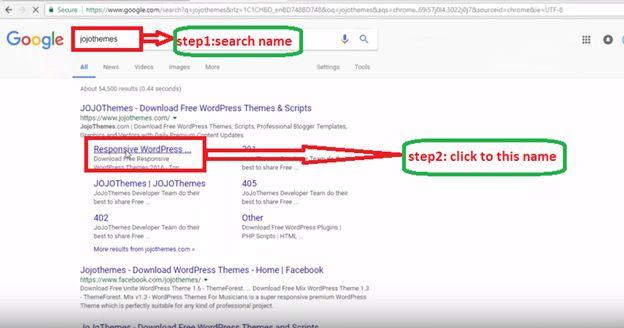 Theme Search on Google Search