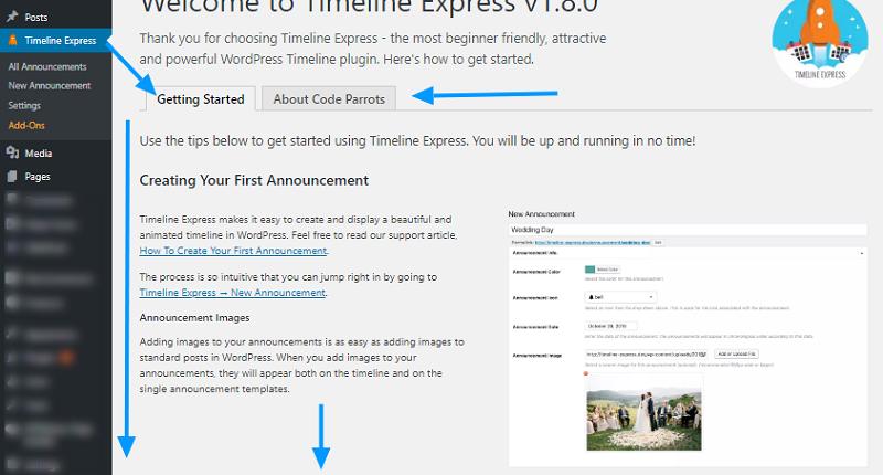 Timeline Express Plugin Settings