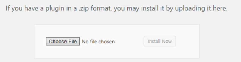 Upload Plugin Option