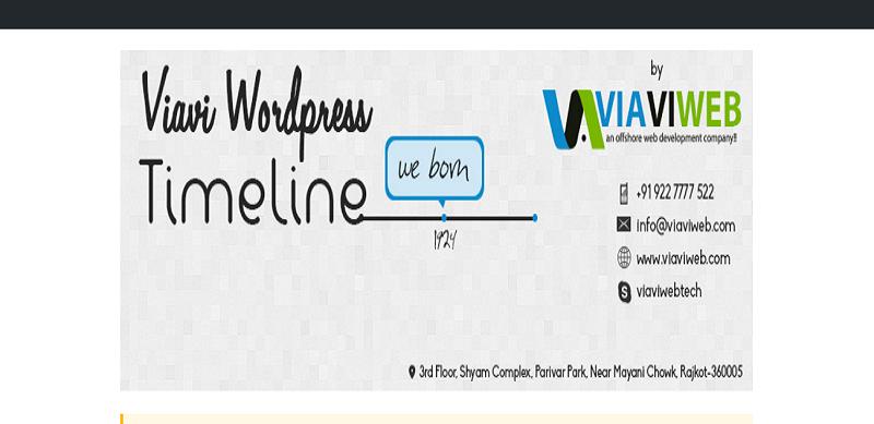 Viavi WordPress Timeline Plugin