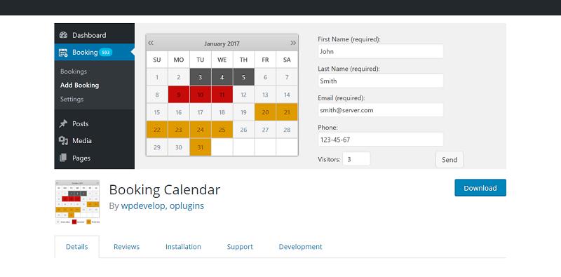 Booking Calendar Plugin