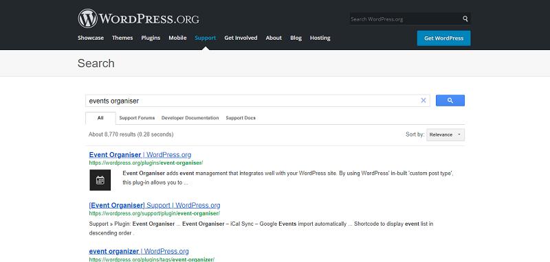 Event Organiser Plugin Search