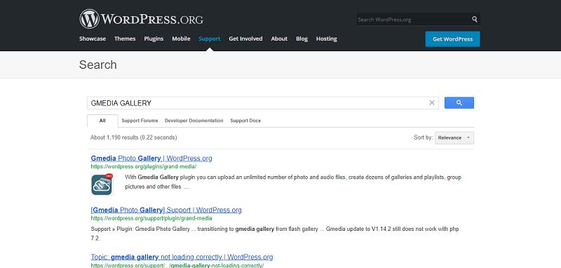 Gmedia Gallery Plugin Search