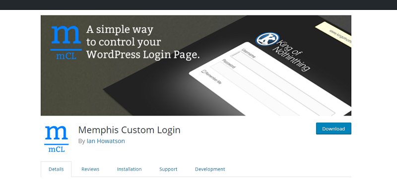 Memphis Custom Login Plugin