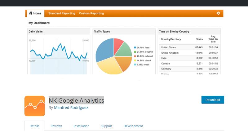 NK Google Analytics Plugin