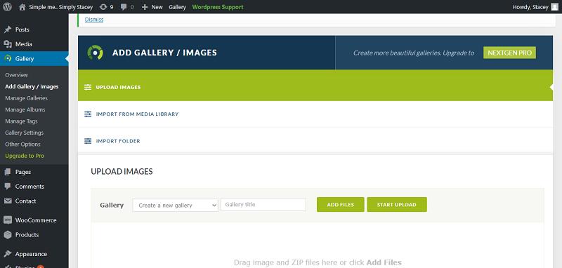 NextGEN Gallery Plugin Setup