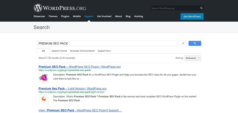 Premium SEO Pack Plugin Search