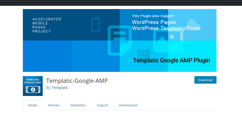 Templatic Google AMP Plugin
