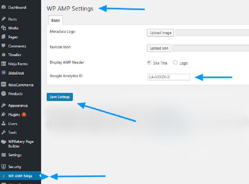 Templatic Google AMP Settings