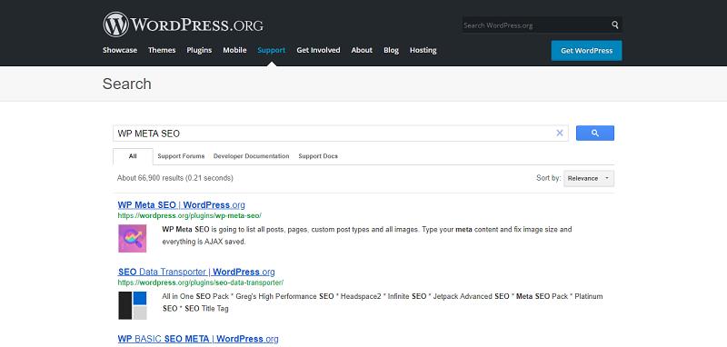 WP Meta SEO Plugin Search