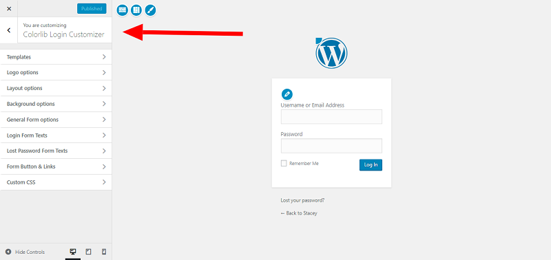 Website Customize Section