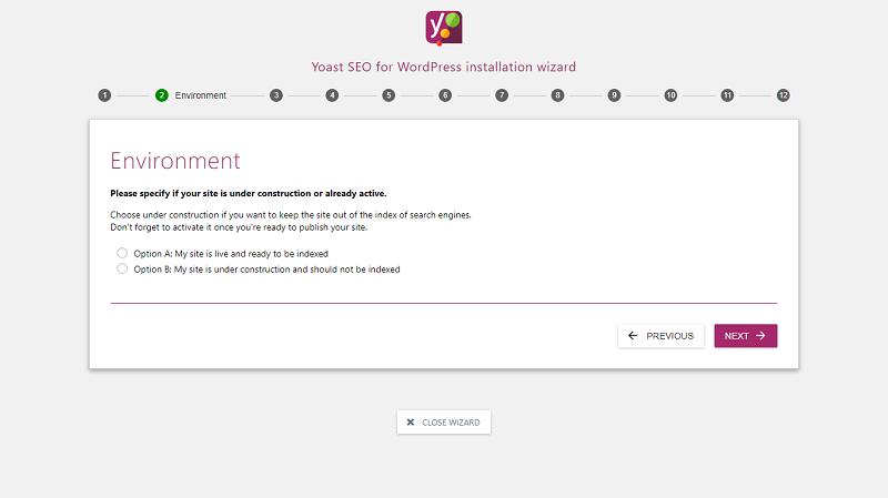 Yoast SEO Configure Settings