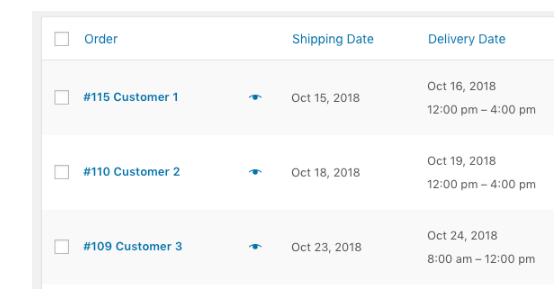 Order Delivery delivery range