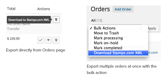 Quickly Export Orders