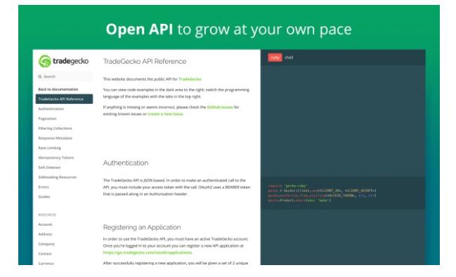 TradeGecko API
