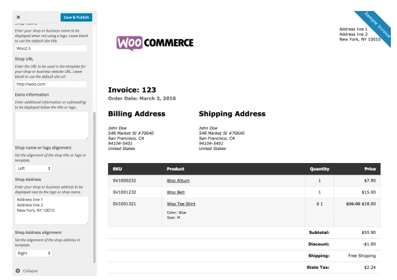 WooCommerce Print Invoices