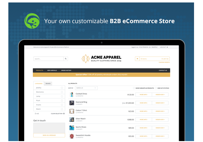 customized b2b ecommerce store