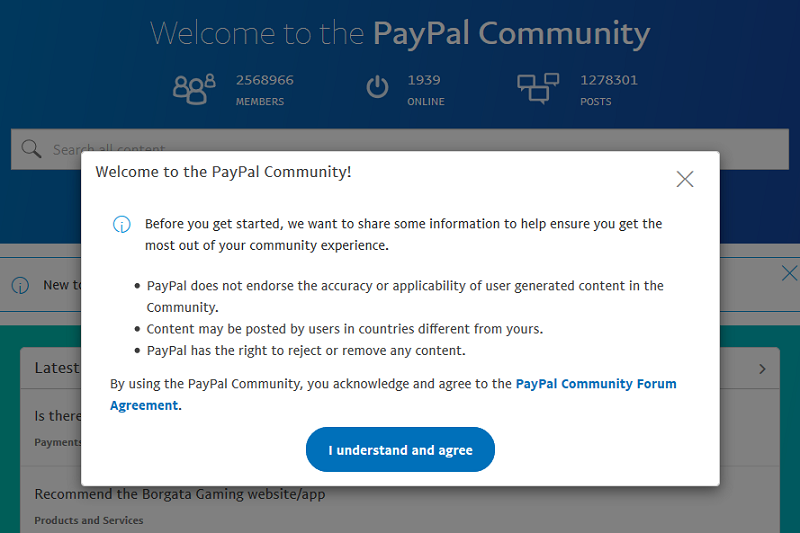 paypal disclaimer