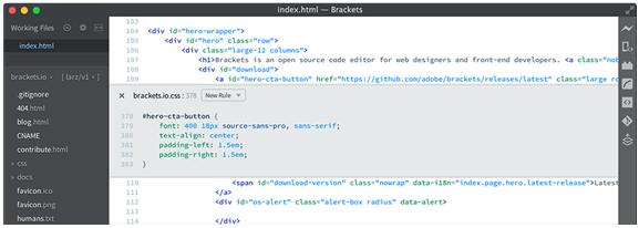 Brackets is basically for web development