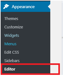 Edit WordPress source code