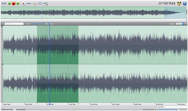 Multi track audio editor