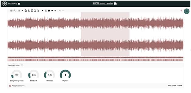 Hya-Wave is a bare bones audio editor