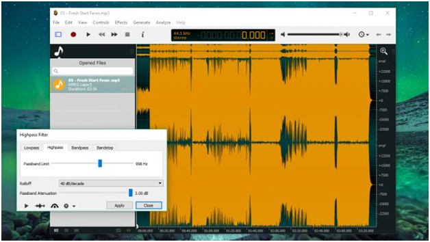 Ocenaudio has a great UI to work with