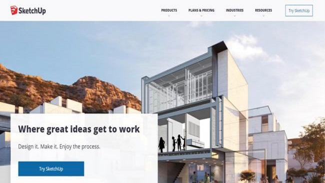 Sketch Up Free website Screenshot
