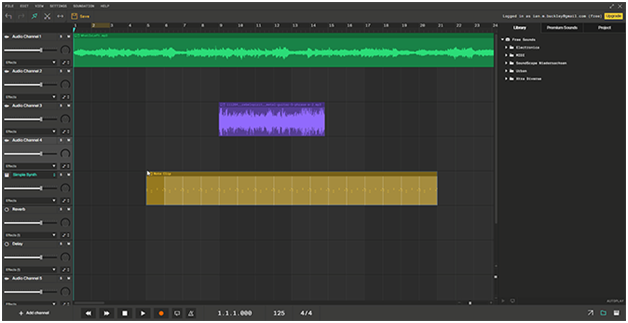 A very capable multi-track editor that can be used online