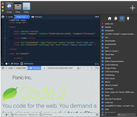 Coda is even available as an iOS app