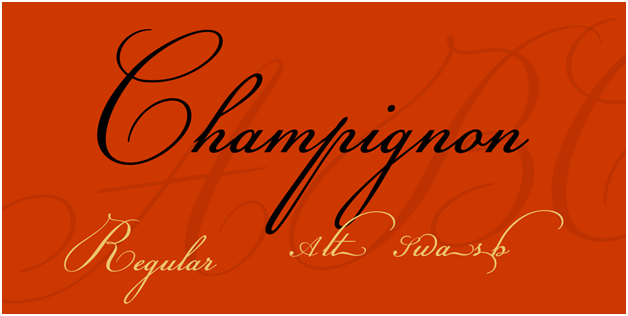 The Champignon font is great for labeling