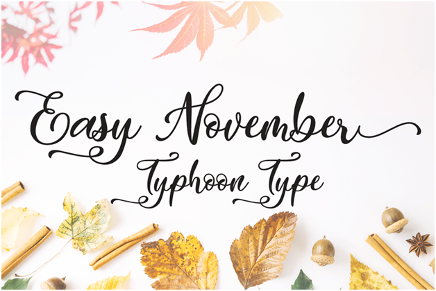 Easy November is a more loopy font than even Endestry