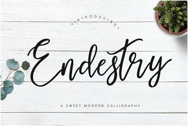 Endestry is a modern take on old letter fonts