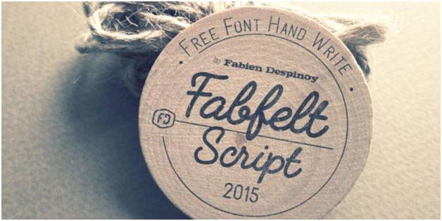Fabfelt script graphic
