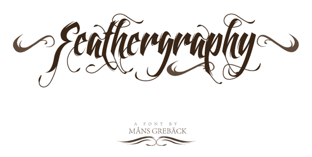 Feathergraphy font graphic