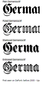 Germanica font graphic