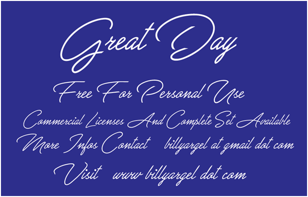 Great Day Font graphic