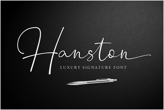 The Hanston font is made for signatures