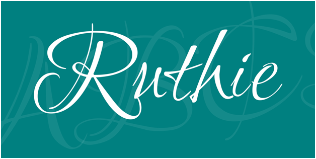 The Ruthie Font instantly reminds you of a Harry Potter Book